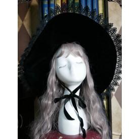 Lolita Lolita Hat Lace Polyester Lolita Accessories Black Witch Hat