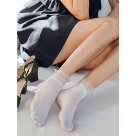 Lolita Socks Ruffles Sheer Lolita Accessories