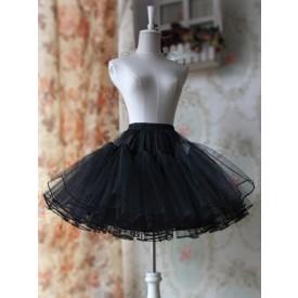 Lolita Black White A-line Organza Lolita Petticoat