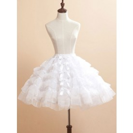 Lolita White Bows Organza Lolita Skirt for Women
