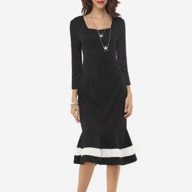 Long Sleeved Hip Fishtail Dress