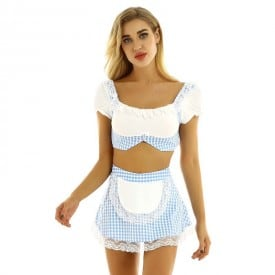 School Girl Theme Party Cosplay Exotic Costume Set