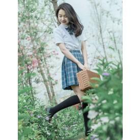 School Uniform JK Outfit Blue Plaid Anime Merchandise