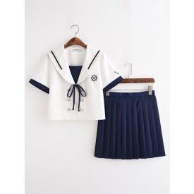 School Uniform JK Outfit Blue Sailor Suit