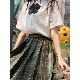 School Uniform JK Outfit Green Cotton Anime Merchandise