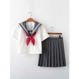 School Uniform JK Outfit Summer Sailor Suit