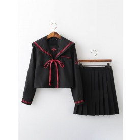 School Uniform Outfit JK Black Polyester Anime Merchandise