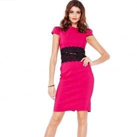 Short Sleeve Slim Floral Dress