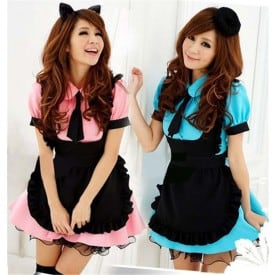 Sweet Gothic Lolita Dress French Anime Sissy Maid Costume