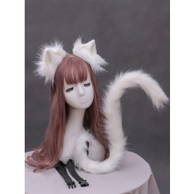 Sweet Lolita Accessories White Cats Ears Cats Tail Lolita Accessory Outfits