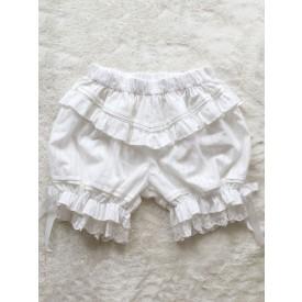 Sweet Lolita Bloomers White Jacquard Loose Lolita Shorts