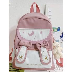 Sweet Lolita Handbag Bows PU Leather Backpack