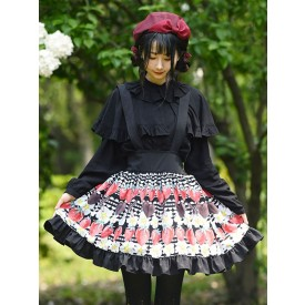 Sweet Lolita Overskirt Color Black Lace Tea Party Daily Casual Lolita Skirts