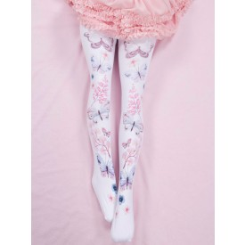 Sweet Lolita Socks Pink Accessory Spandex Butterfly Pattern Lolita Accessories