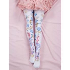 Sweet Lolita Stocking Pink Spandex Animal Print Lolita Accessories