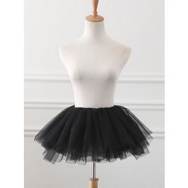 Tulle Lolita Petticoats Crinoline Tutu Skirt Black Lolita Underskirt