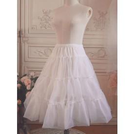 Voile Lolita Petticoat Ruffle Pleated White Lolita Petticoat Skirt