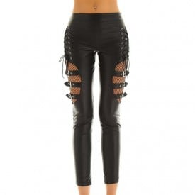 Wet Look Faux Leather Shinny Stretchy Punk Erotic Pants