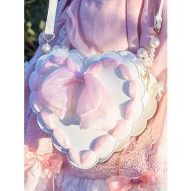 White Lolita Bag Bows Cross-body Bag PU Leather Lolita Accessories