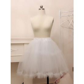 White Lolita Petticoats Tulle Lolita Crinoline Underskirt