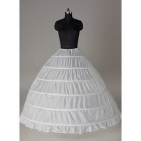 White Wedding Petticoat Taffeta Full Gown Slip Bridal crinoline