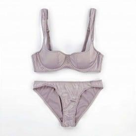 Women's Push Up Bra Set Soft Half Cup Lace Underwear Set