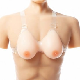 Classic Transparent One-piece Stap Bra Oval Breast Forms