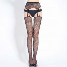 Fishnet Garter Bodystocking 6069