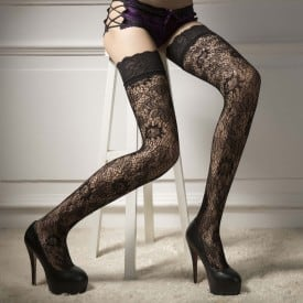 Floral Lace Thigh Stockings 4501
