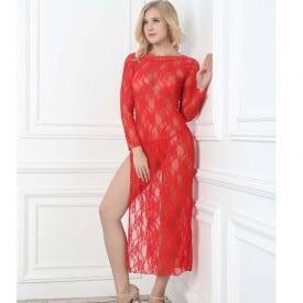 Long Selvee Lace Floral Maxi Dress 2031