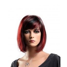 Short Silky Straight Burgundy Red Wig