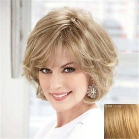 Swiss Lace Short Light Brown Wig