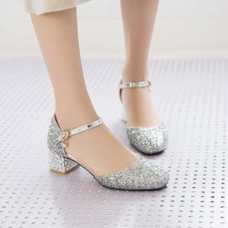 1.5 Inch Sweet Square Toe Chunky Square Sandal