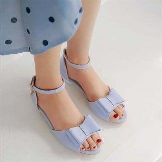 1 Inch Cute Princess Bowknot Lolita Peep Toe Sandal