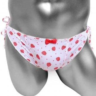 Cute Novelty Low Rise Ruffles Printed Sissy Panty