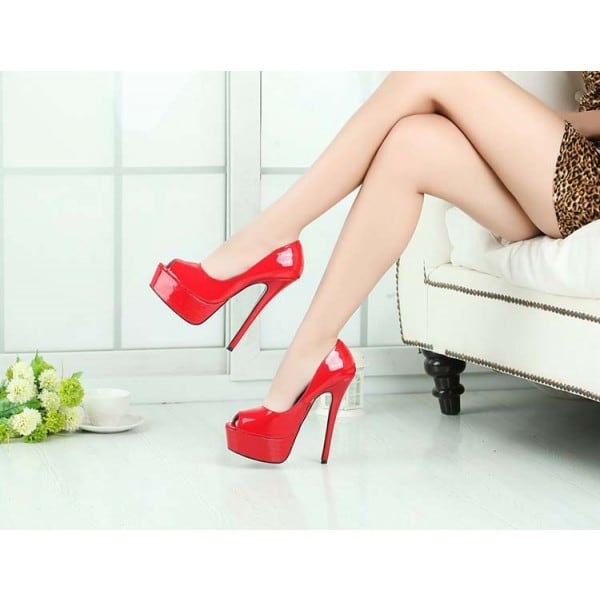 6.3 Inch Peep Toe Pump