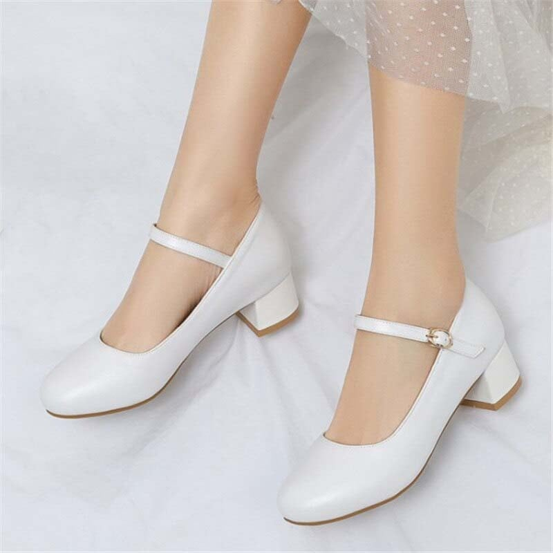 1.5 Inch Sweet Chunky Low Heels Pump