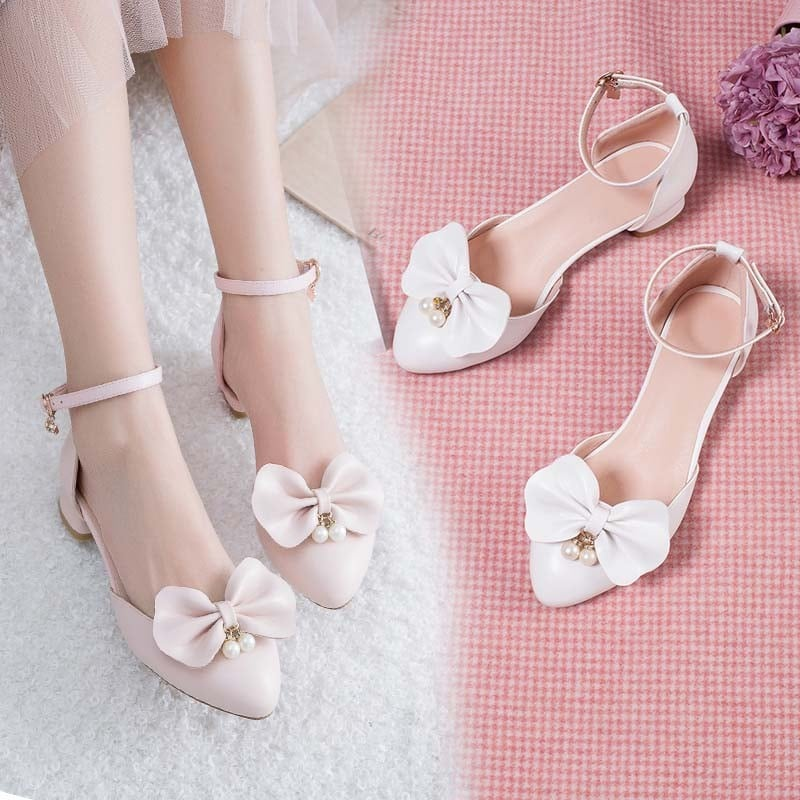 1 Inch Sweet Buckle Shallow Lolita Pump