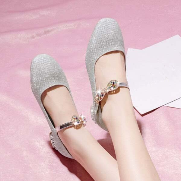 1 Inch Sweet Crystal Butterfly-knot Pump
