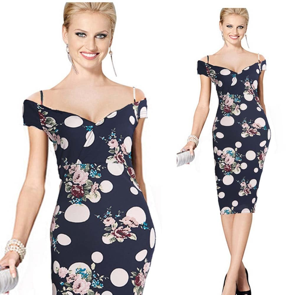 Floral Shoulder Strap Dress