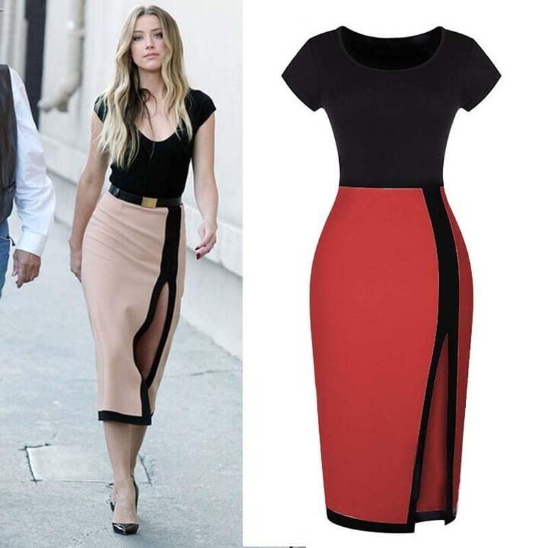 Short Sleeve Hip Dress