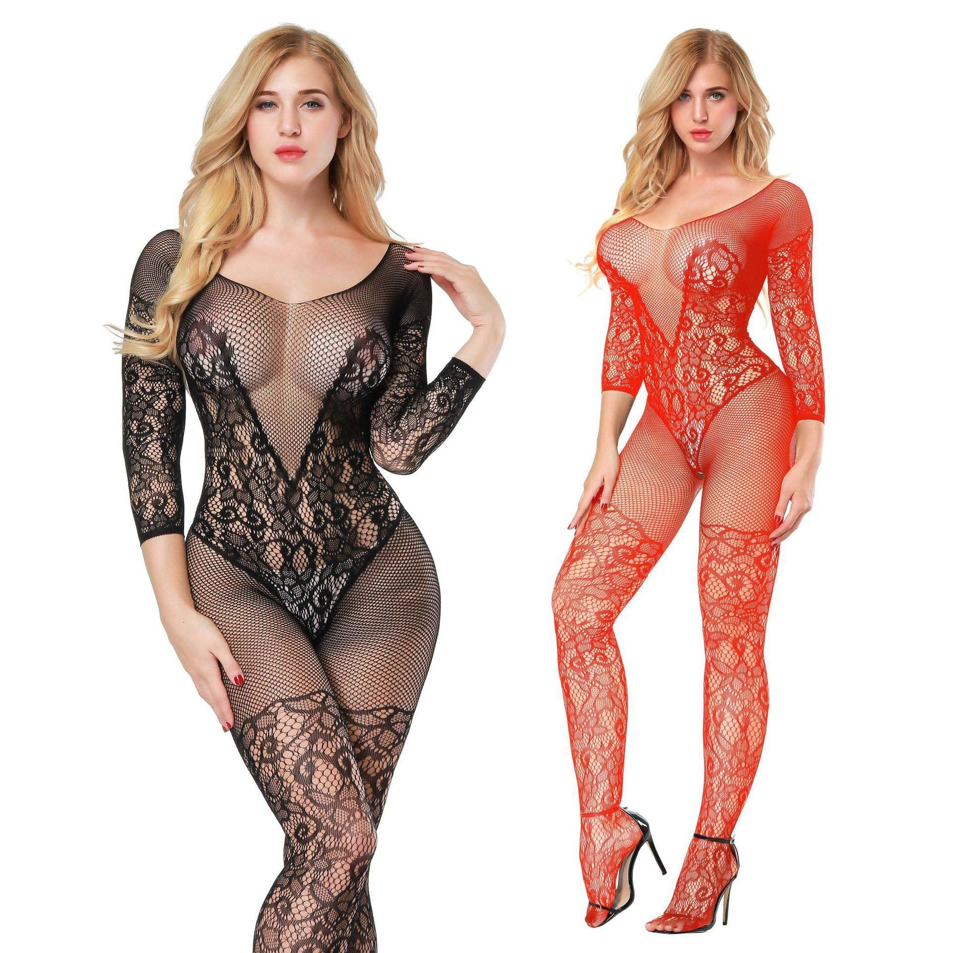 Floral Lace Sexy Bodystocking 8507