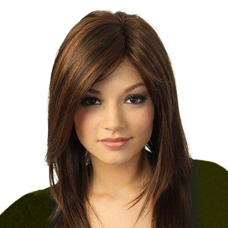 Long None Lace Front Wigs