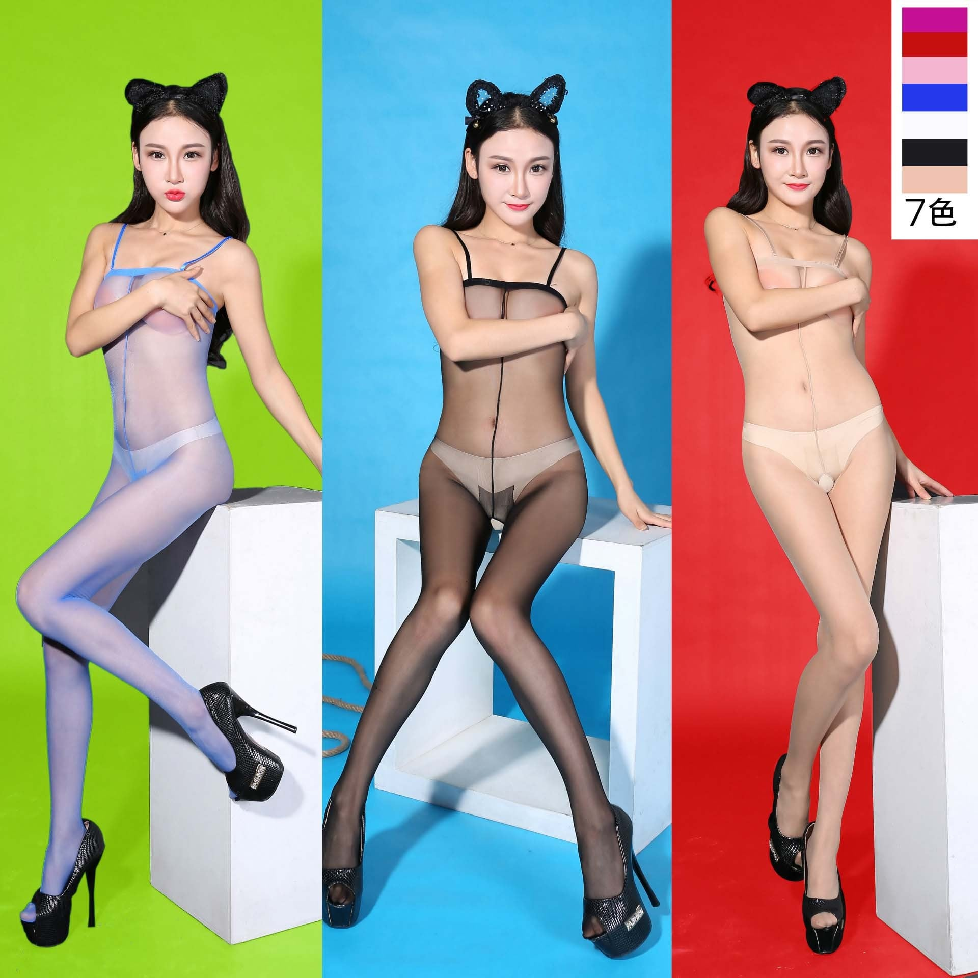 Sling Transparent Open Crotch Bodystocking 8956