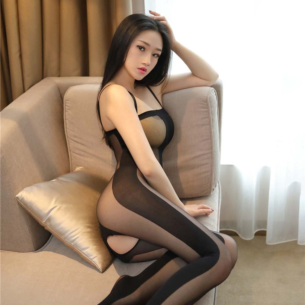 Striple Transparent Bodystocking 6013