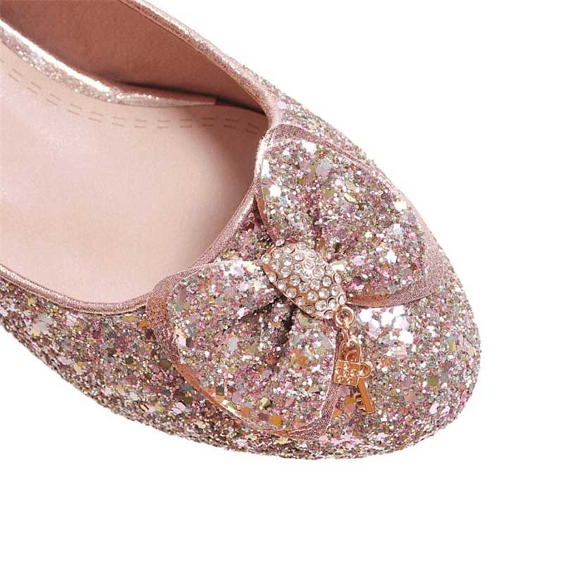 1.2 Inch Sweet Lolita Sequined Bowknot Pump