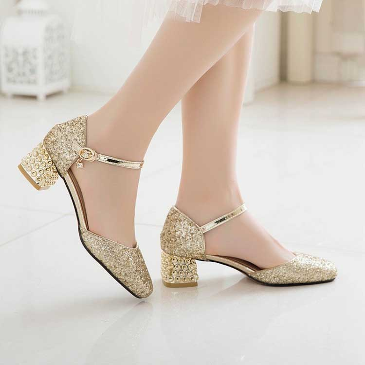 1.5 Inch Sweet Square Toe Chunky Square Sandal