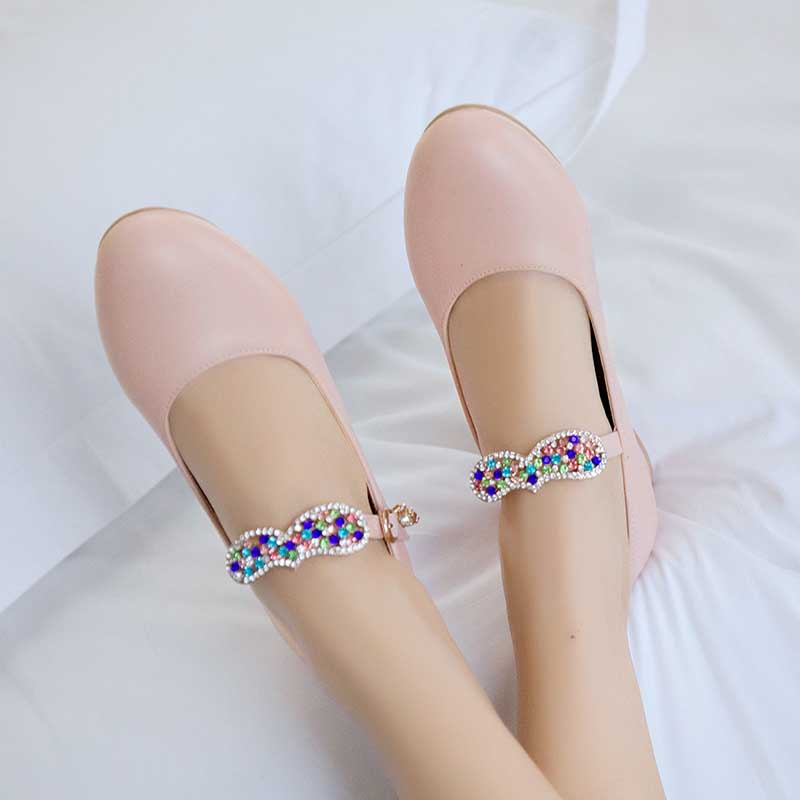 1.5 Inch Sweet Party Buckle Chunky Pump